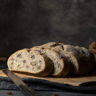 Easy whole wheat walnut - raisin bread (Vegan) feat