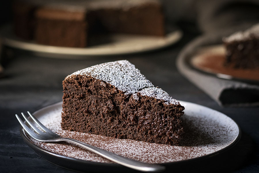 5-ingredient flourless chocolate cake (with no butter) 2