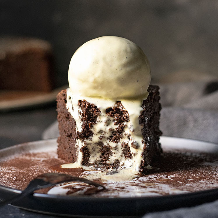 5-ingredient flourless chocolate cake (with no butter) feat