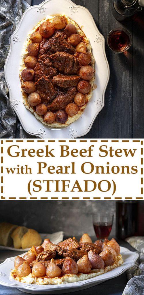 Greek beef stew with pearl onions (Stifado) 5