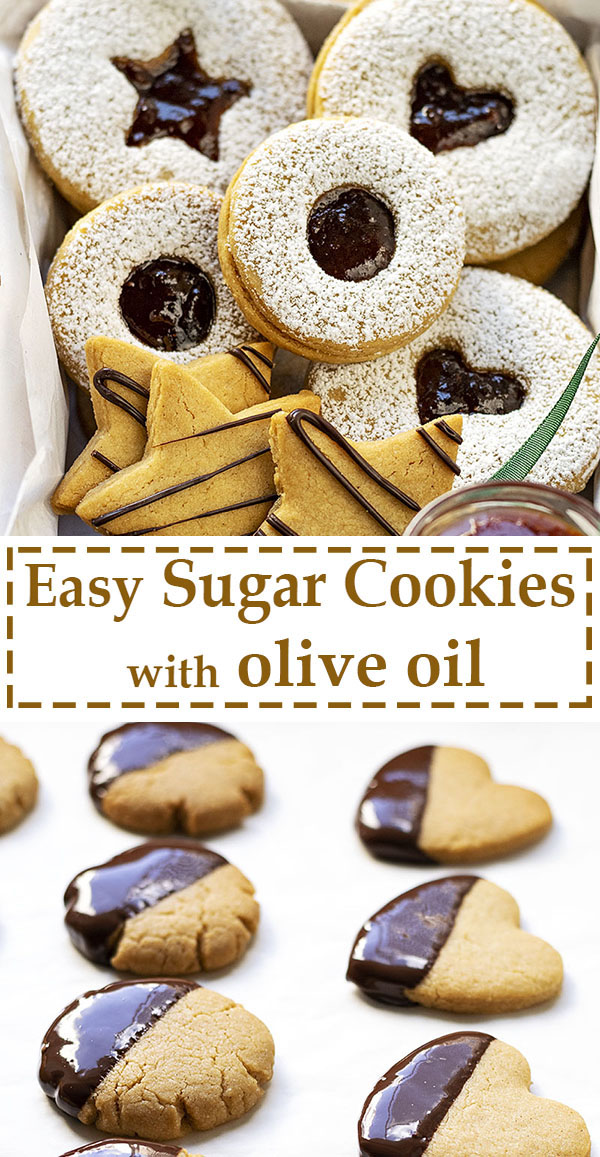 Easy sugar cookies recipe with olive oil 7