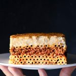 Greek pastitsio pasta bake