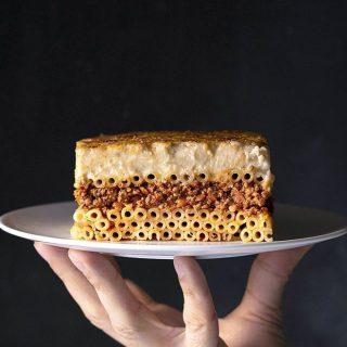 Pastitsio Recipe (Greek Pasta Bake) feat