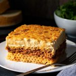 Pastitsio recipe or greek pasta bake feat
