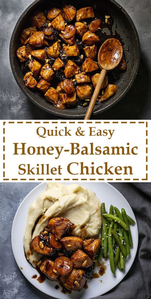 Healthy Honey-Balsamic skillet chicken with dried fruit 5