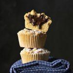 Tahini & Chocolate (or Nutella) stuffed crumble muffins feat.