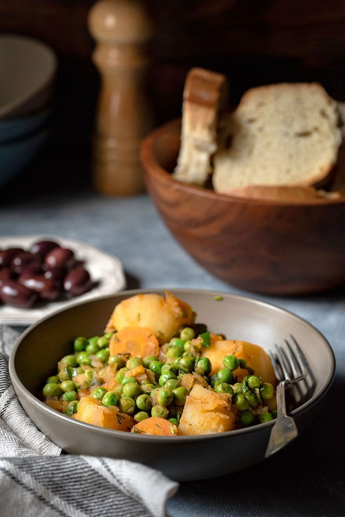 Greek pea and potato stew (Vegan) 5