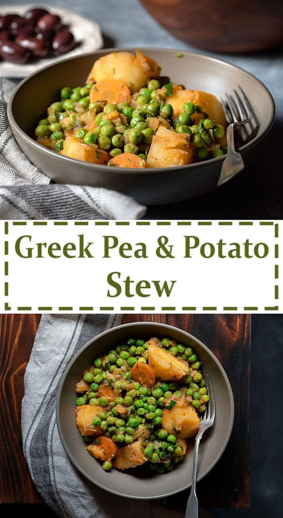 Greek pea and potato stew (Vegan) 8