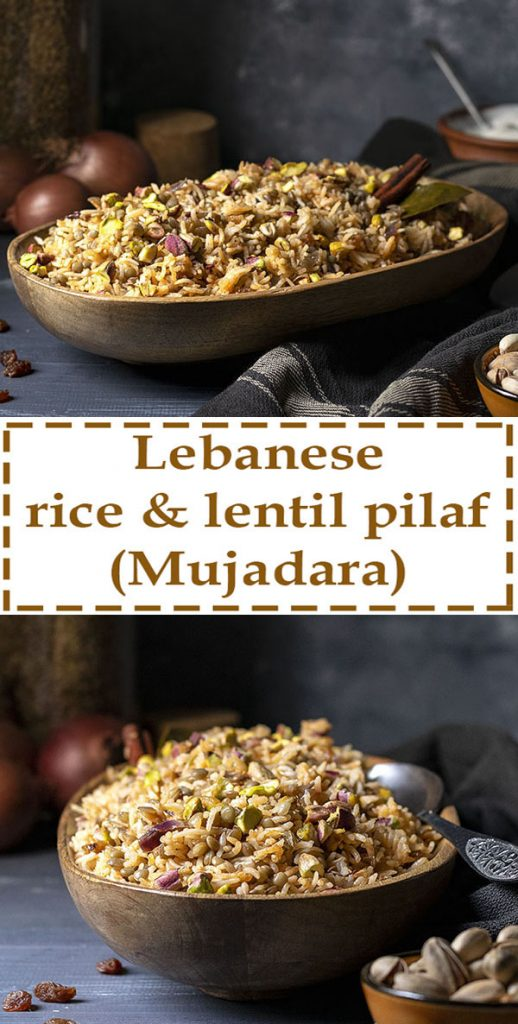 Lebanese Rice and Lentil Pilaf (Mujadara) - Vegan 5