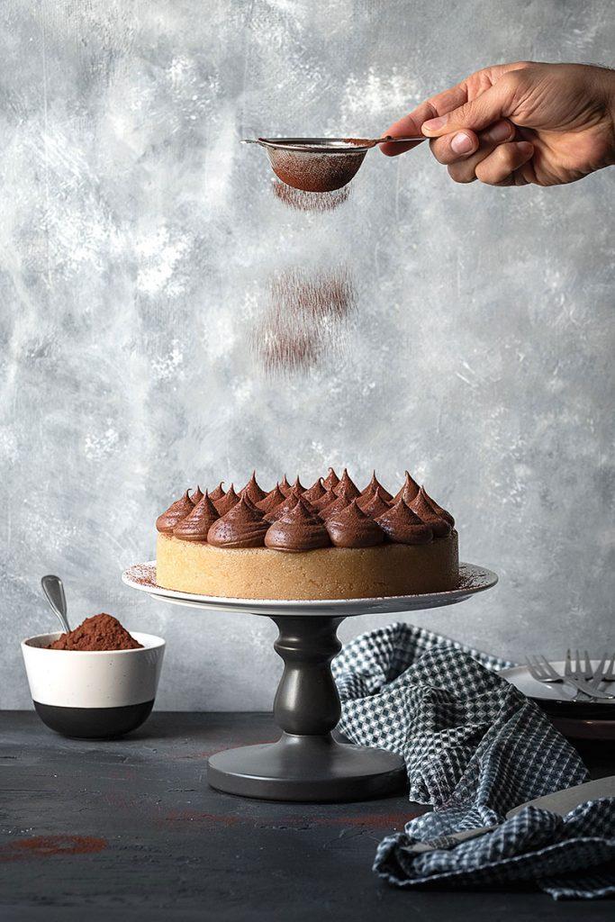 Greek Halva Cake with Whipped Chocolate Ganache – Vegan 4