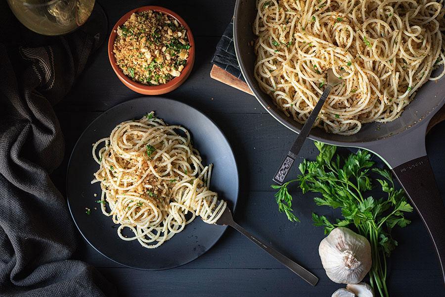 Italian toasted breadcrumb and garlic pasta 2