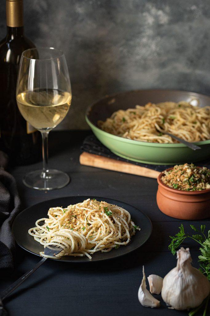 Italian toasted breadcrumb and garlic pasta 3