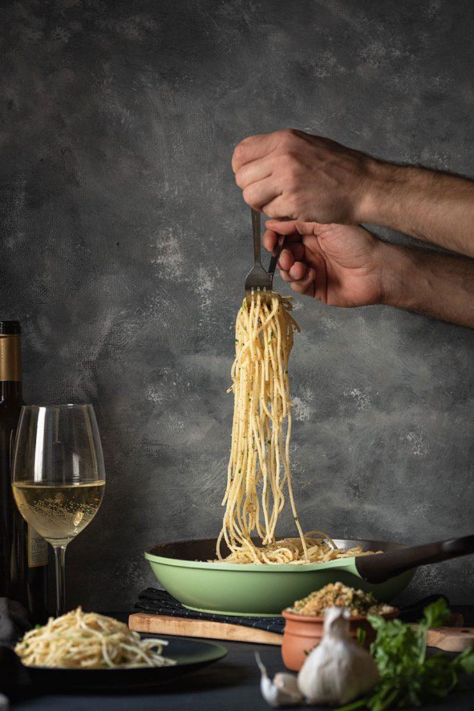 Italian toasted breadcrumb and garlic pasta 5