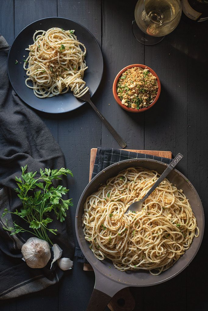 Italian toasted breadcrumb and garlic pasta