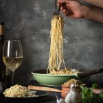 Italian toasted breadcrumb and garlic pasta feat