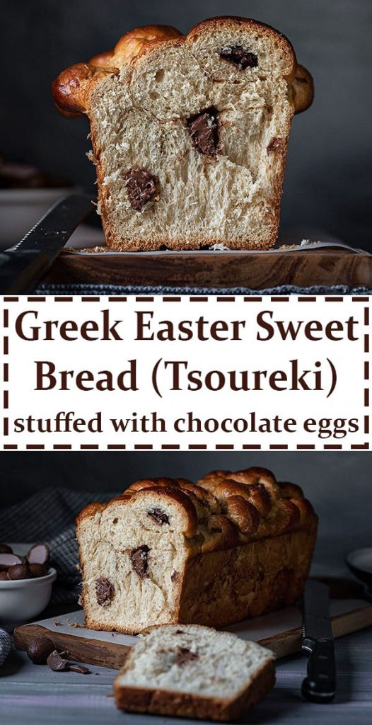 Chocolate stuffed Greek Easter bread (Tsoureki gemisto) 6