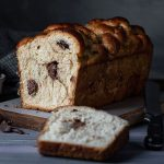 Chocolate stuffed Greek Easter bread (Tsoureki gemisto) feat