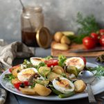 Healthy Mediterranean potato salad with boiled eggs (Nicoise) 5