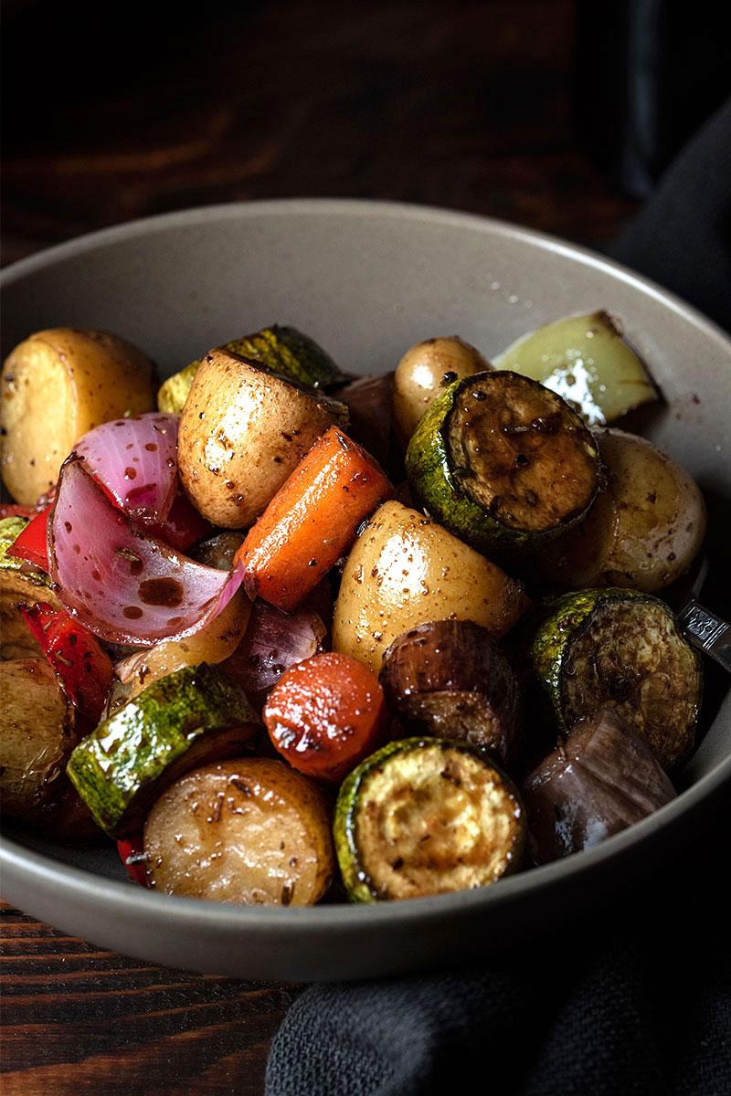 honey balsamic glazed roasted vegetables 4