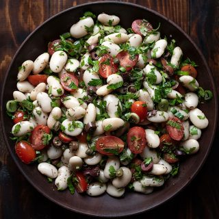 giant white bean salad feat