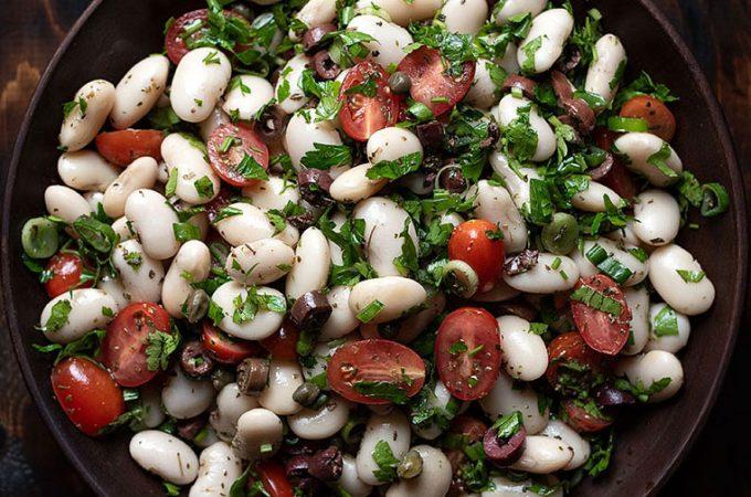 giant white bean salad feat