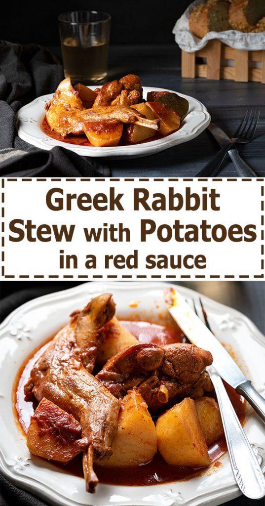 greek rabbit stew in wine sauce 4