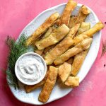 Greek fried zucchini chips feat