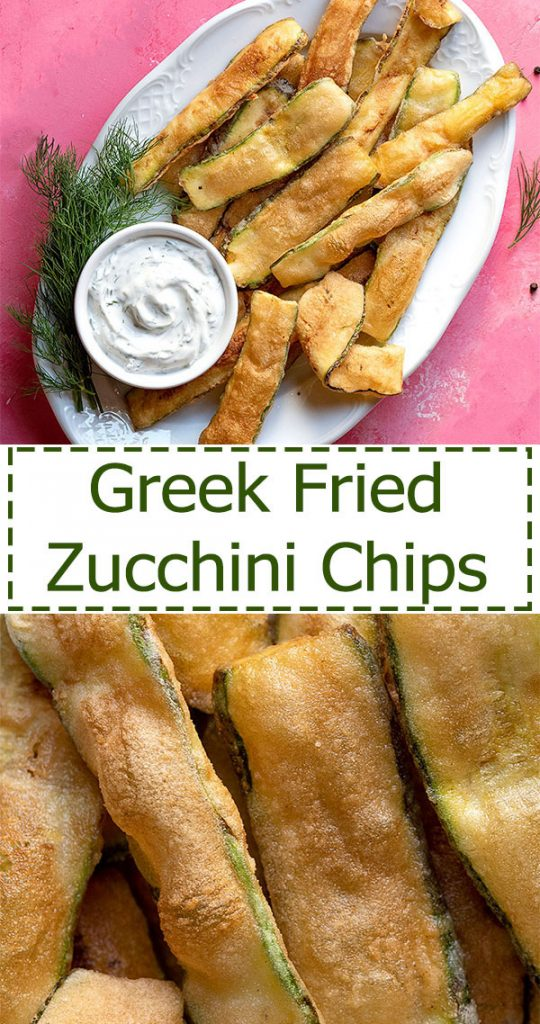 Greek fried zucchini chips 5