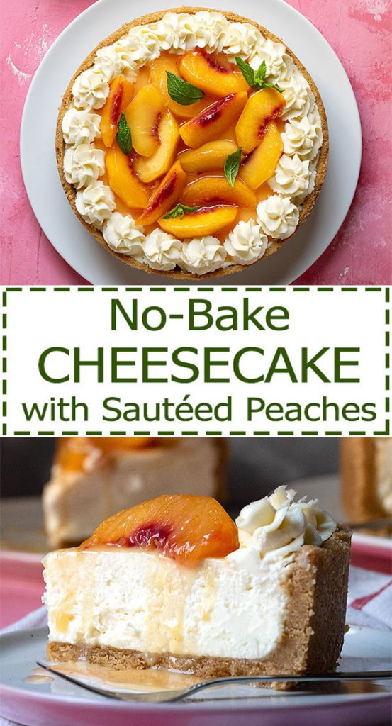easy no bake cheesecake recipe with sateed peaches 7