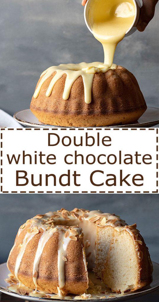 Easy white chocolate and vanilla bundt cake recipe 5