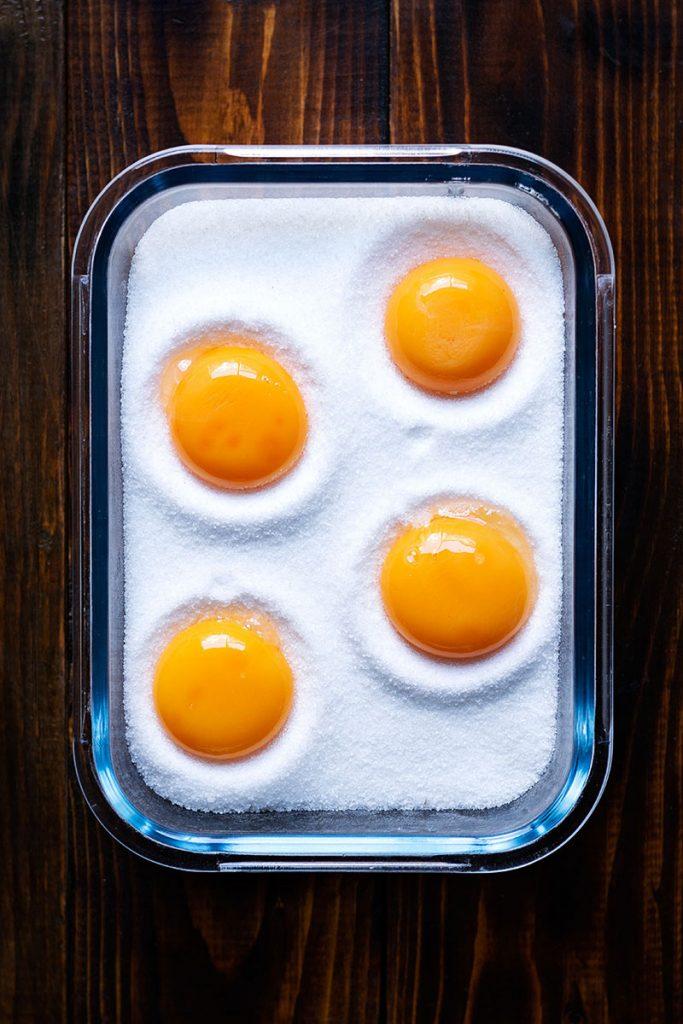 how to make salt cured egg yolks 1