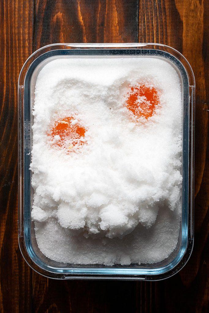 how to make salt cured egg yolks 2