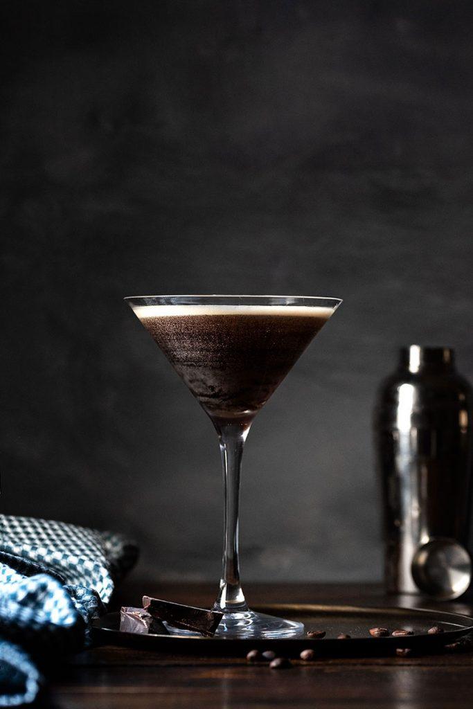 espresso martini in a martini glass 1