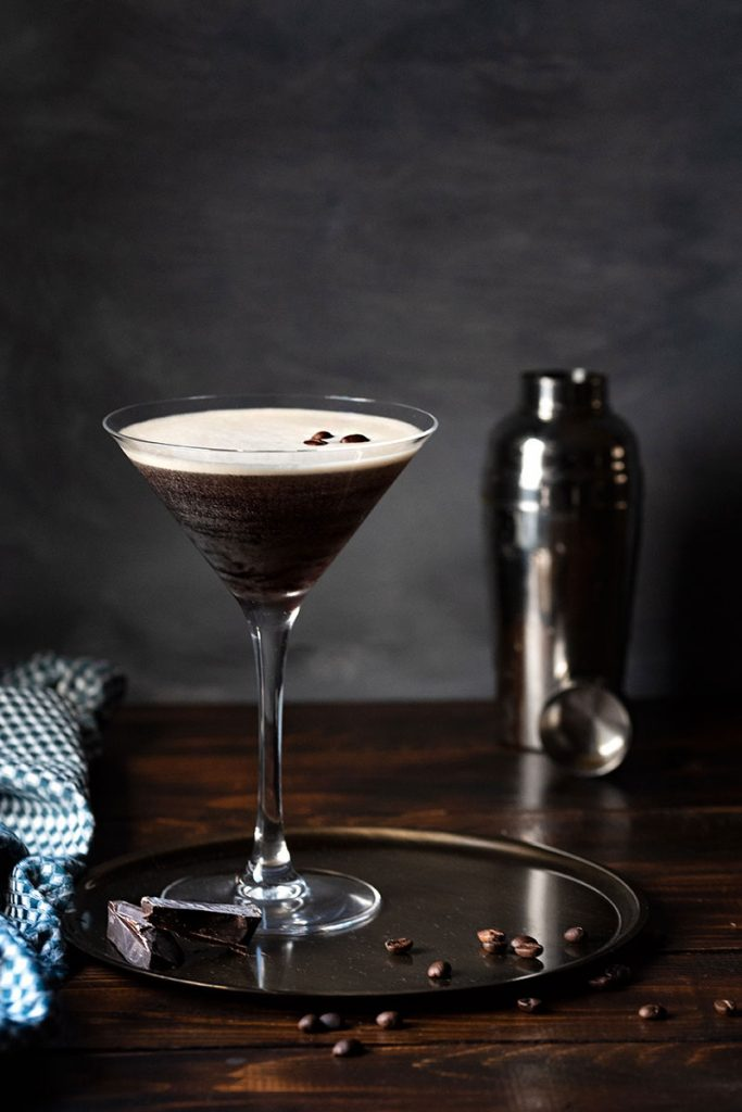 espresso martini in a martini glass 3