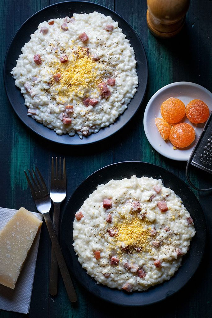 Parmesan risotto recipe with ham 2