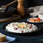 Parmesan risotto recipe with ham feat