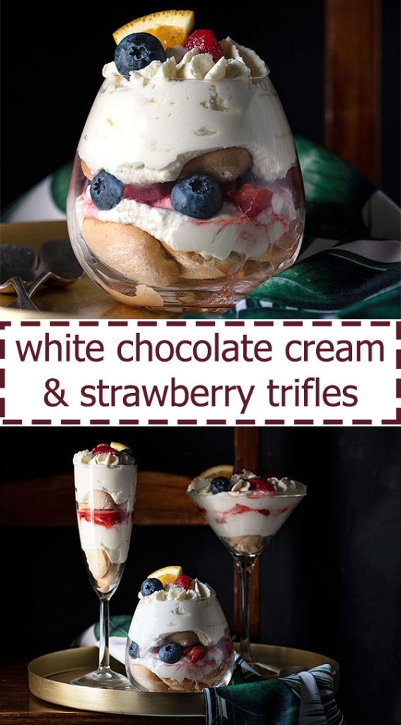 Trifle recipe with white chocolate cream and strawberries 5