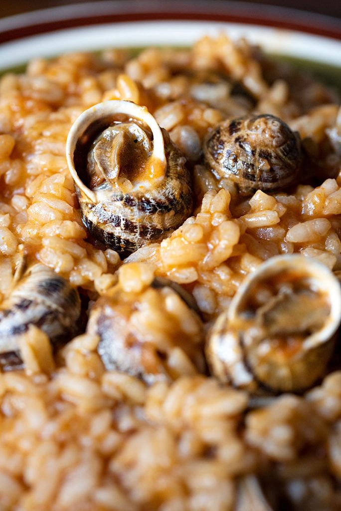 Escargots recipe -Greek snail risotto