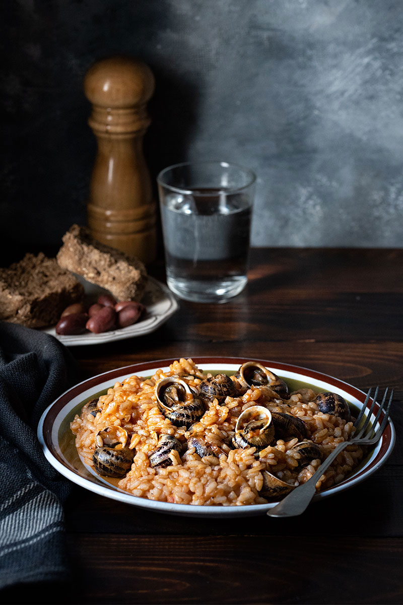 Escargots recipe -Greek snail risotto 3