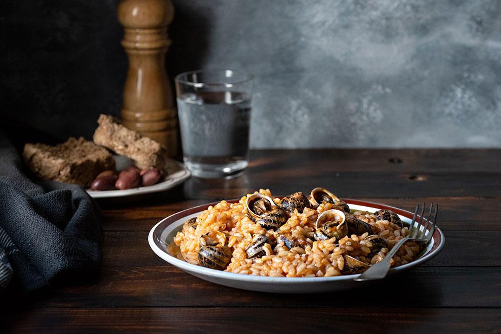 Escargots recipe -Greek snail risotto 4