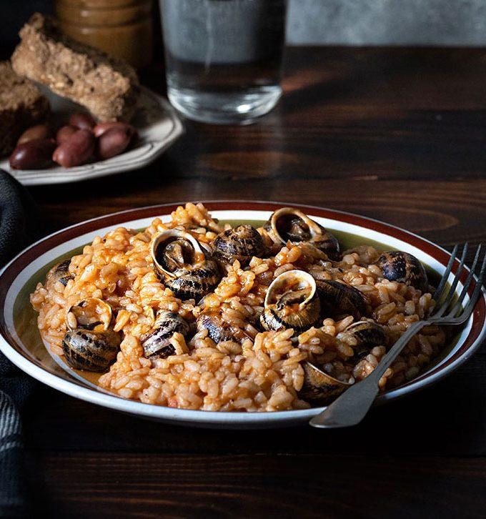 Escargots recipe -Greek snail risotto feat