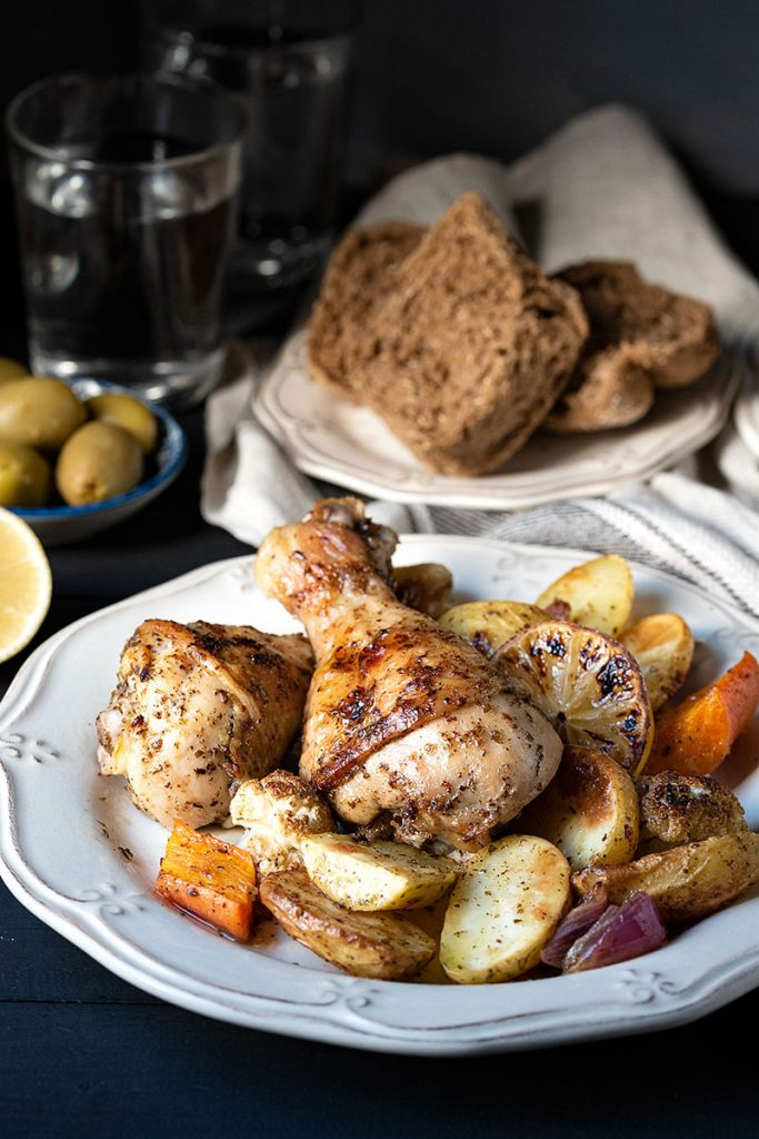 Greek baked chicken recipe (with potatoes) 3
