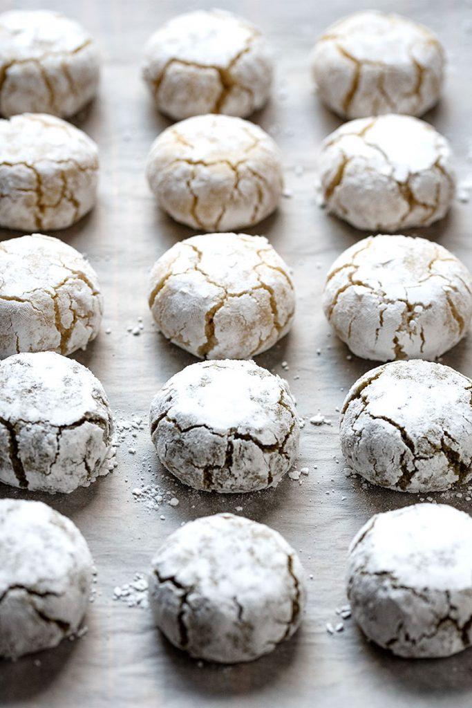 Italian almond cookies - soft amaretti 4