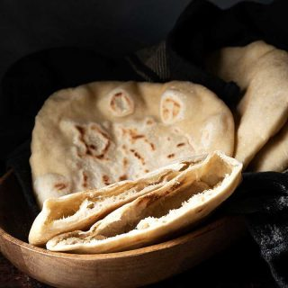 homemade pita bread profile