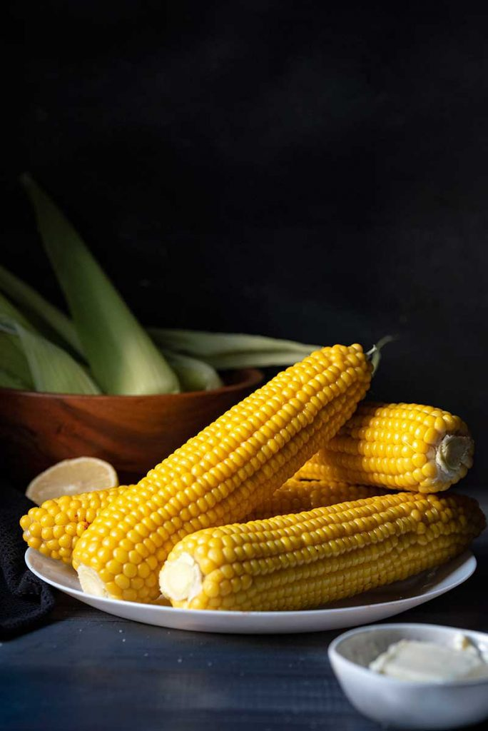 corn on the cob on plate
