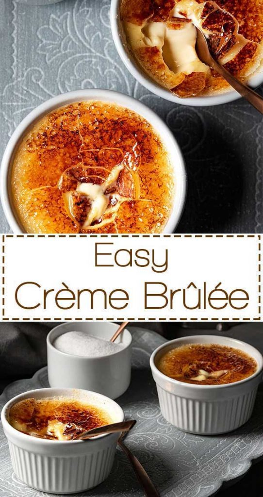 two creme brulee, french dessert
