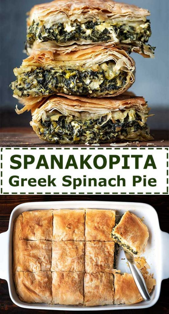 Greek spinach pie sliced