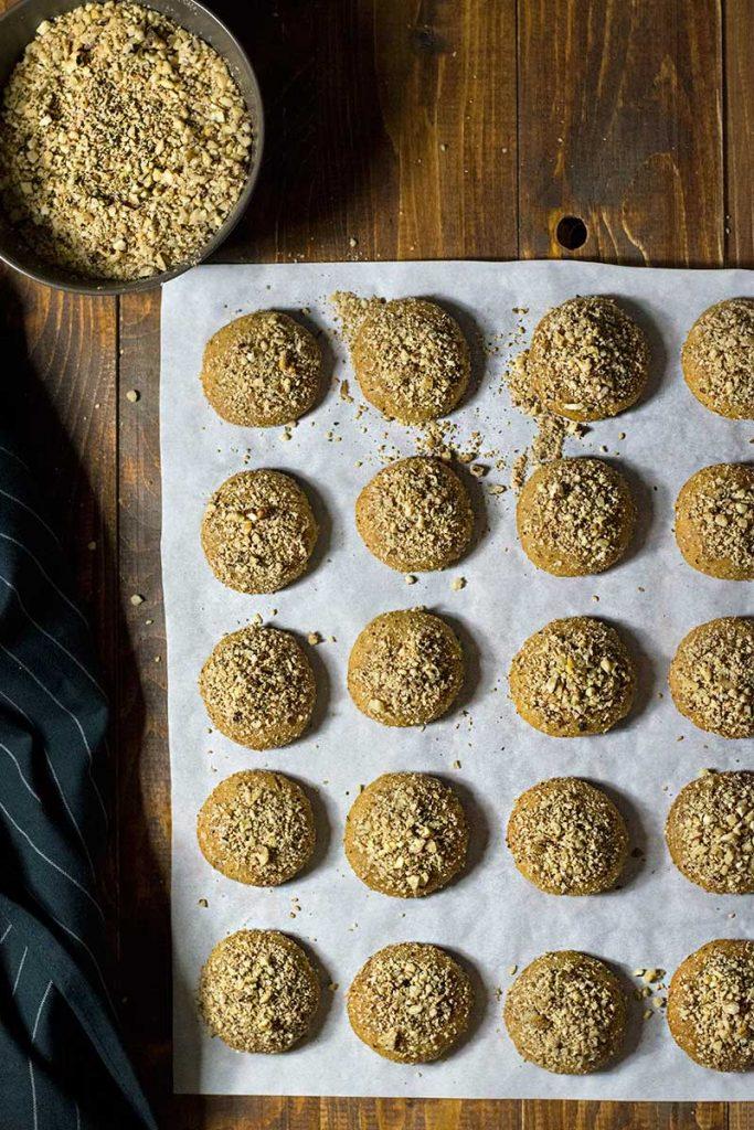 melomakarona Greek honey cookies