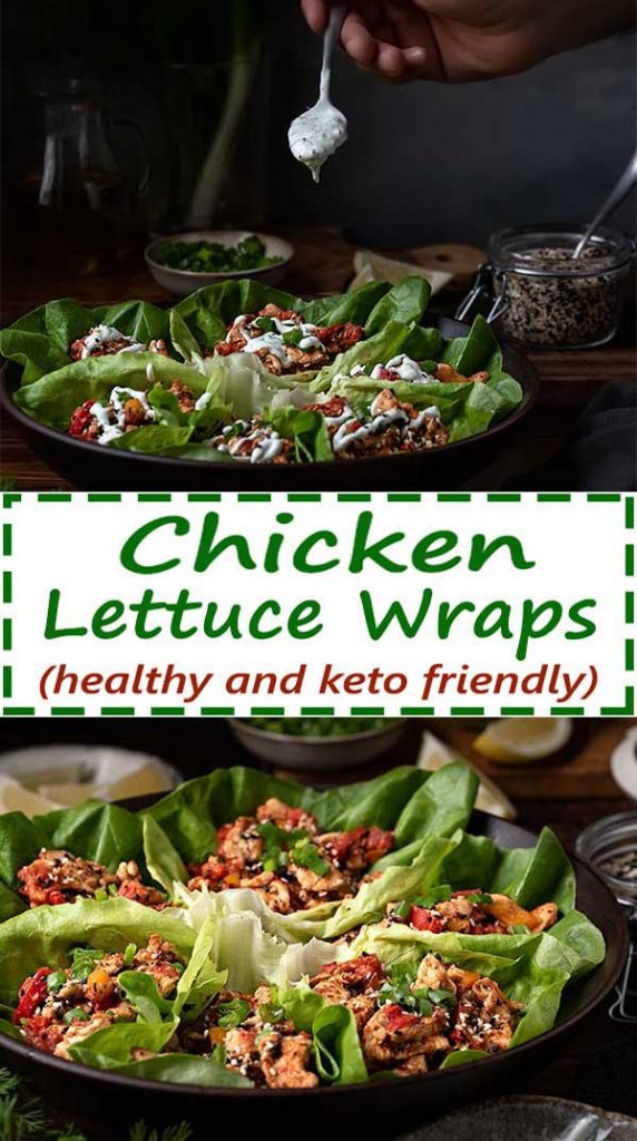 chicken lettuce wraps pinterest image