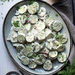 creamy cucumber salad thumbnail